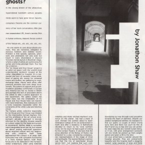 Does anyone still believe in ghosts?, Flux Magazine, by Jonnathan Shaw June 1995
