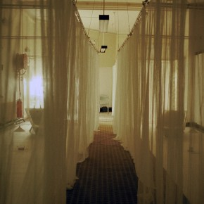 Ward installation with curtains closed